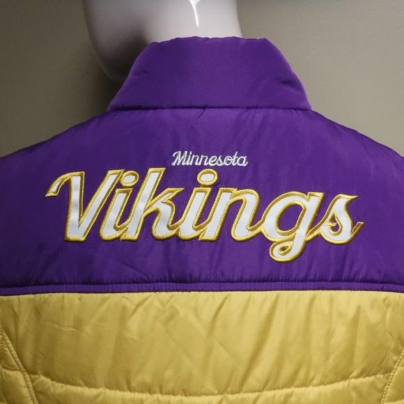NFL Jackets & Blazers - Women's NFL Vikings Vest NWT Size Large
